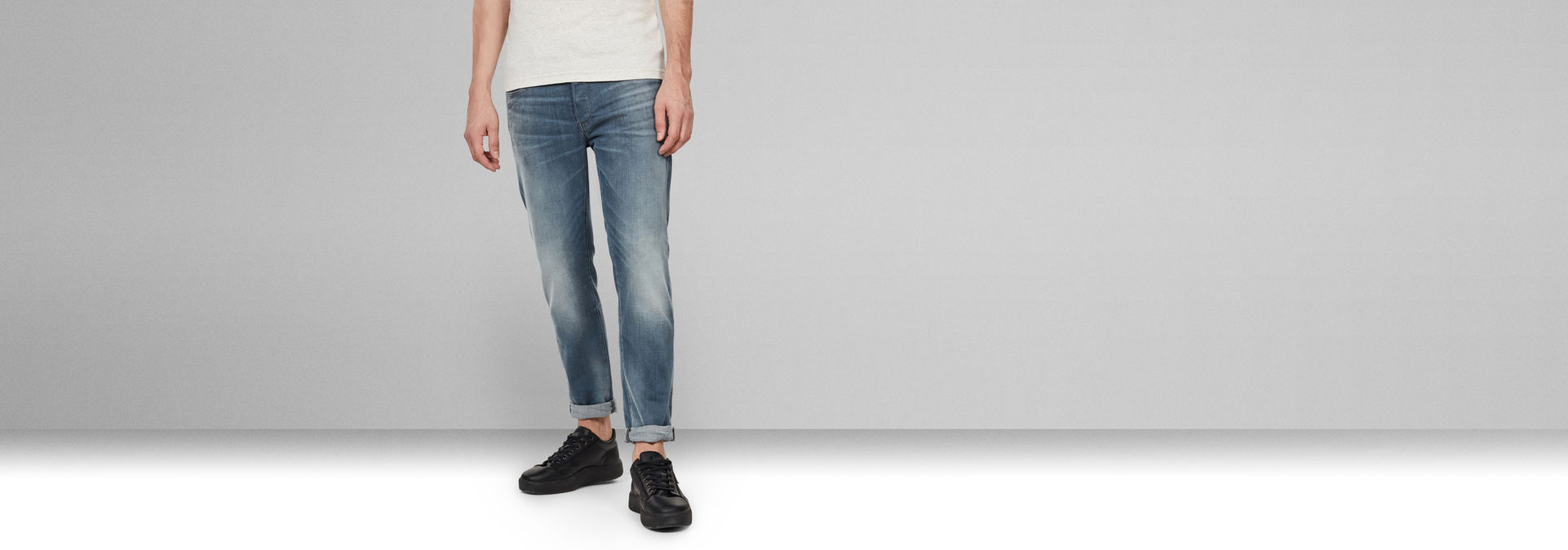 G-Star Raw Hommes Jeans 3301 Slim Fit Denim Bleu Faded Quartz 51001 b604 a805