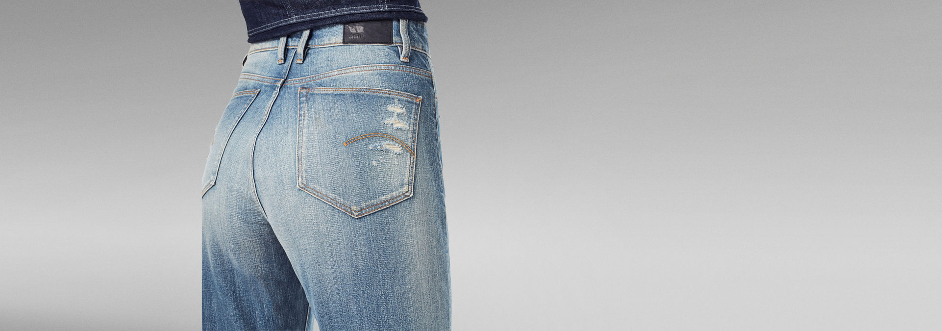 Janeh Ultra High Mom Ankle Jeans   Hellblau   G Star RAW®