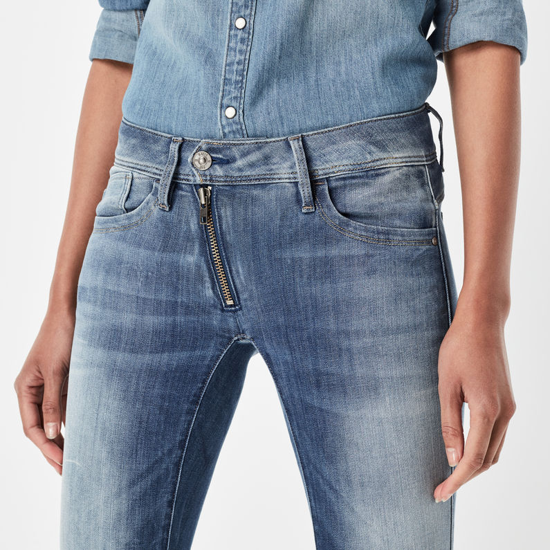 Lynn Zip Mid Waist Skinny Jeans | Medium Aged | G Star RAW®