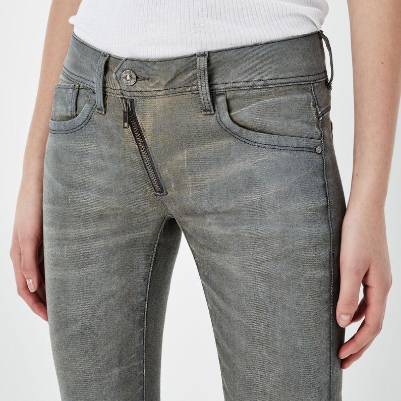 Lynn Zip Mid Waist Skinny Jeans | Dark Aged Cobler | G Star RAW®