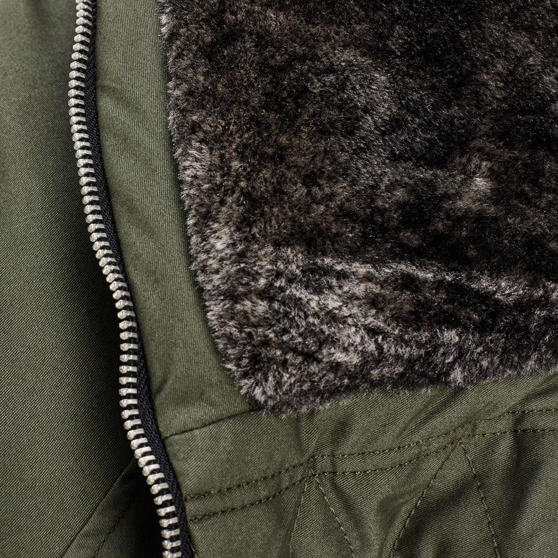 Polax Hooded Bomber | Dark Bronze Green | Femmes | G Star RAW®