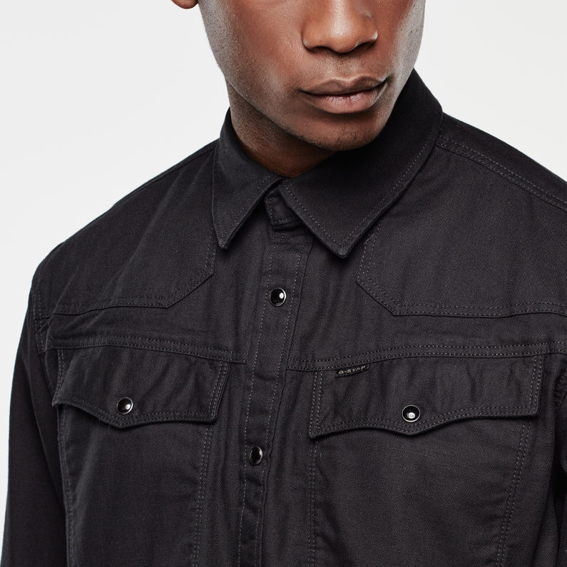 Zwart Glimmend Overhemd.3301 Shirt Black Heren G Star Raw