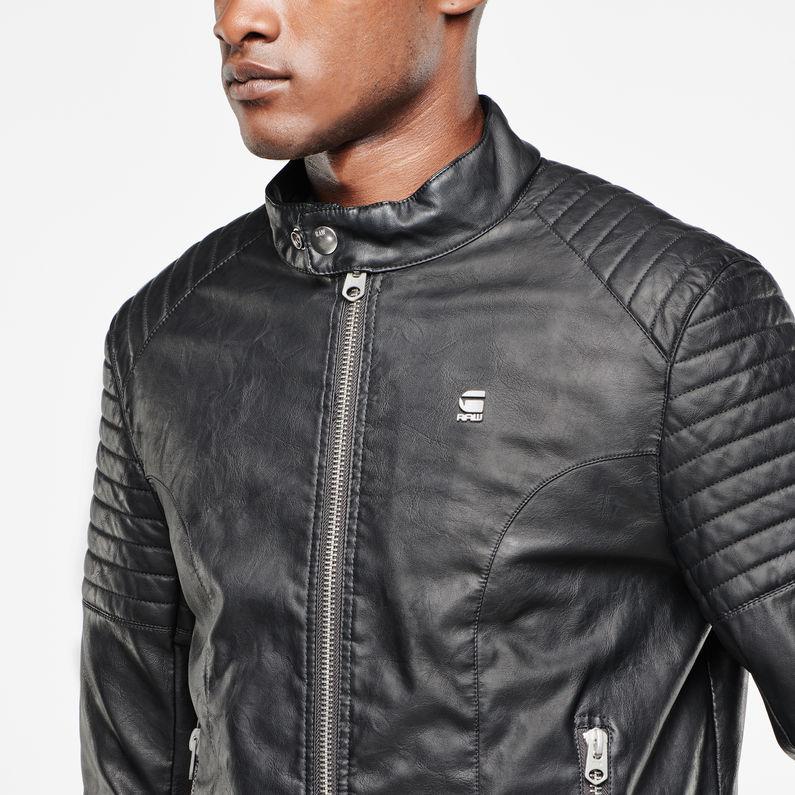 Aviator Faux Leather Jacket | Black | Men | G Star RAW®
