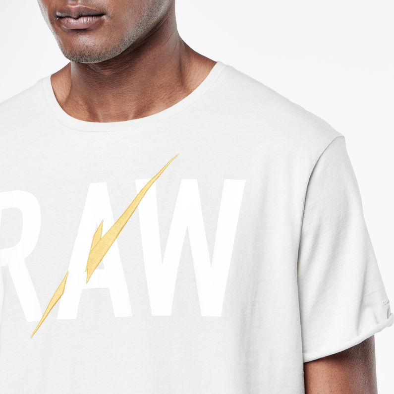 Hujan Round Neck T Shirt | Porcelain | Men | G Star RAW®