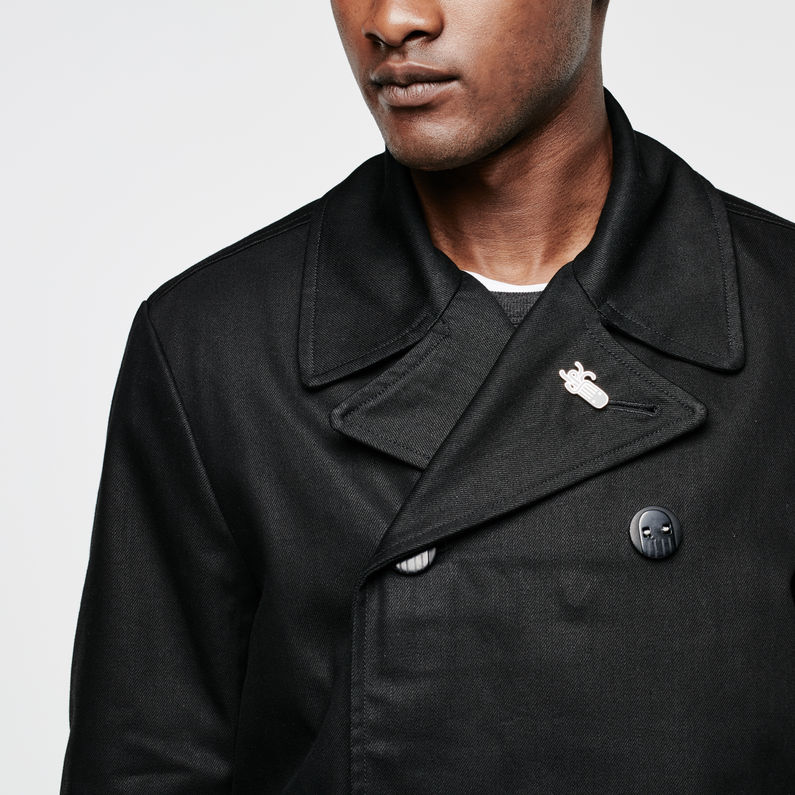 RAW for the Oceans Pea Coat   Raw Denim   Hommes   G Star RAW®