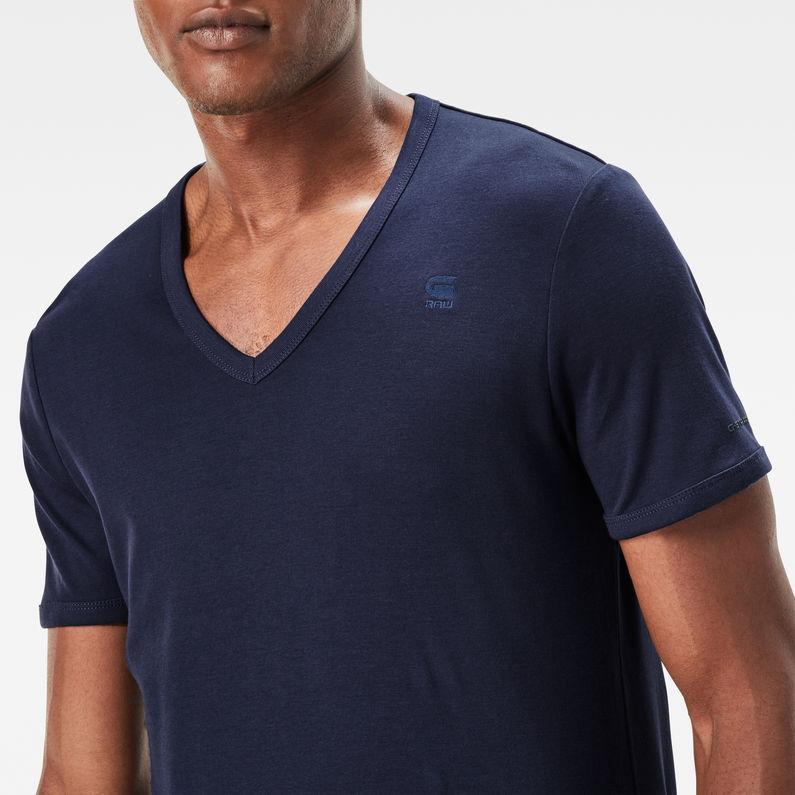 Base V Neck Slim T Shirt 2 pack | Shade | Hommes | G Star RAW®