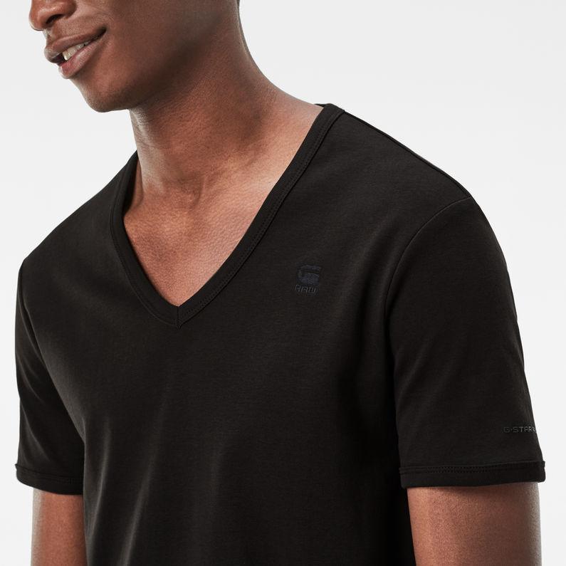 Basic V Neck T Shirt 2 Pack | Black | Men | G Star RAW®