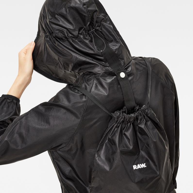 Strett Hooded Gym Bag Jacket   Black   Damen   G Star RAW®