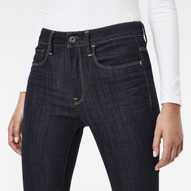 3301 Deconstructed High Waist Skinny Jeans | Rinsed | G Star