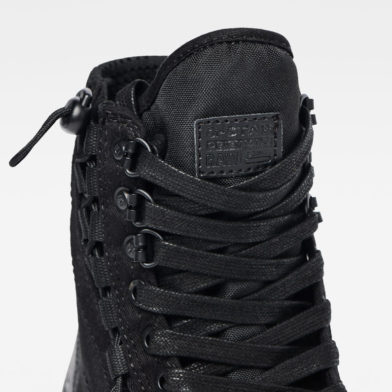 Cargo High Sneakers | Black | Femmes | G Star RAW®