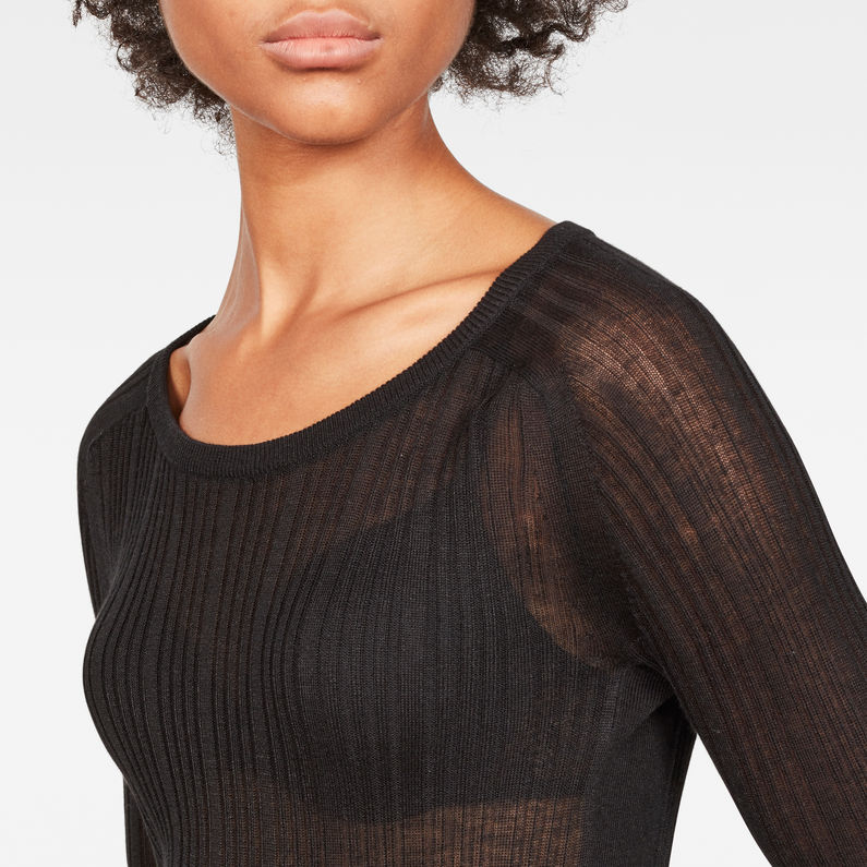 Kollner Cardigan Knit | Dark Black | Dames | G Star RAW®