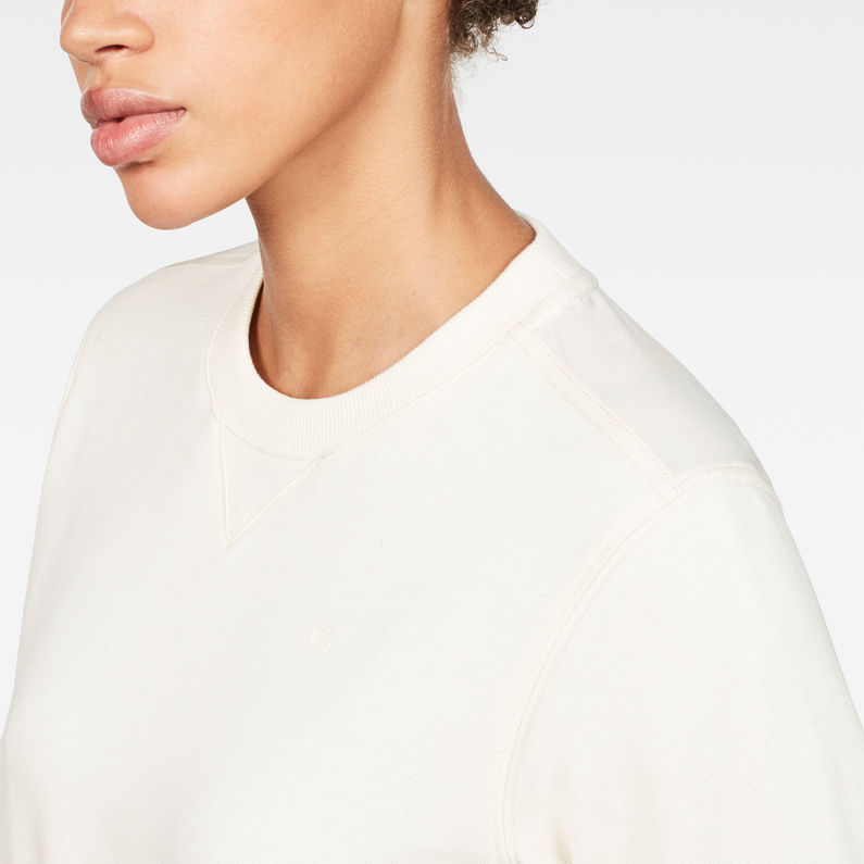 Cropped Hybrid Archive Sweater | Ivory | Women | G-Star RAW®