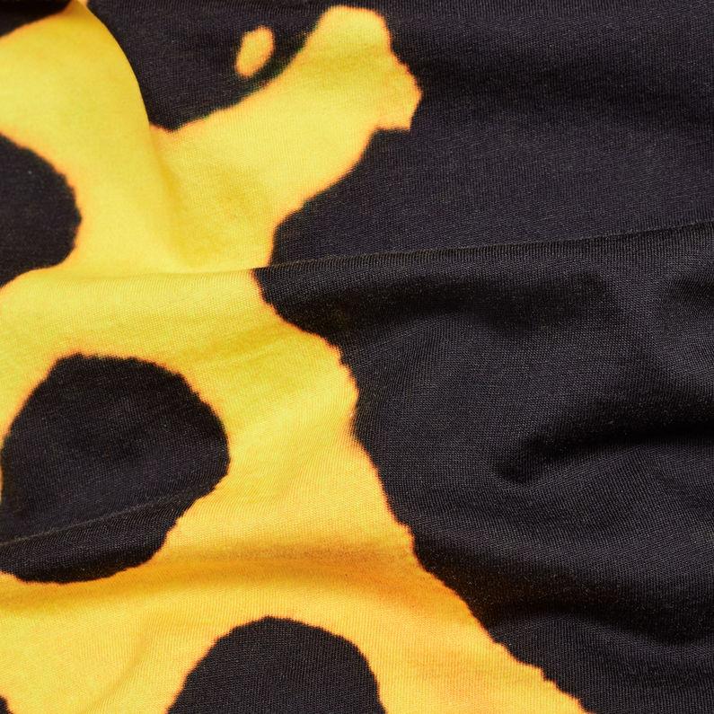 2740234c9 G-Star RAW® Fian Bumble Frog Patterned T-Shirt Yellow fabric shot