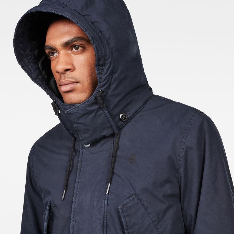 Vodan Padded Hooded Jacket | Mazarine Blue | Hommes | G Star