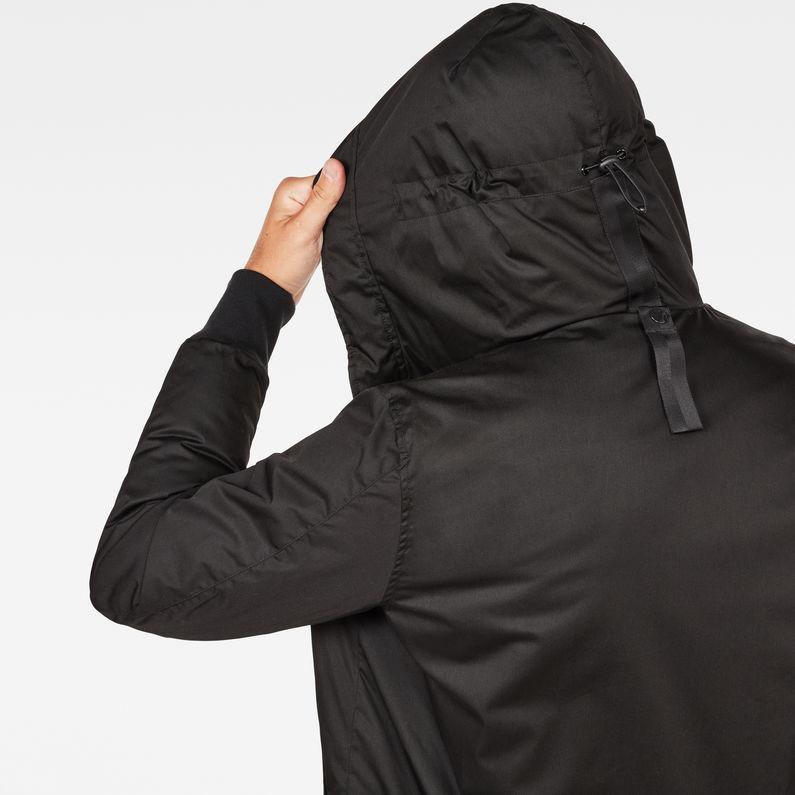 Whistler Strett Hooded Bomber | Dark Black | Men | G Star RAW®