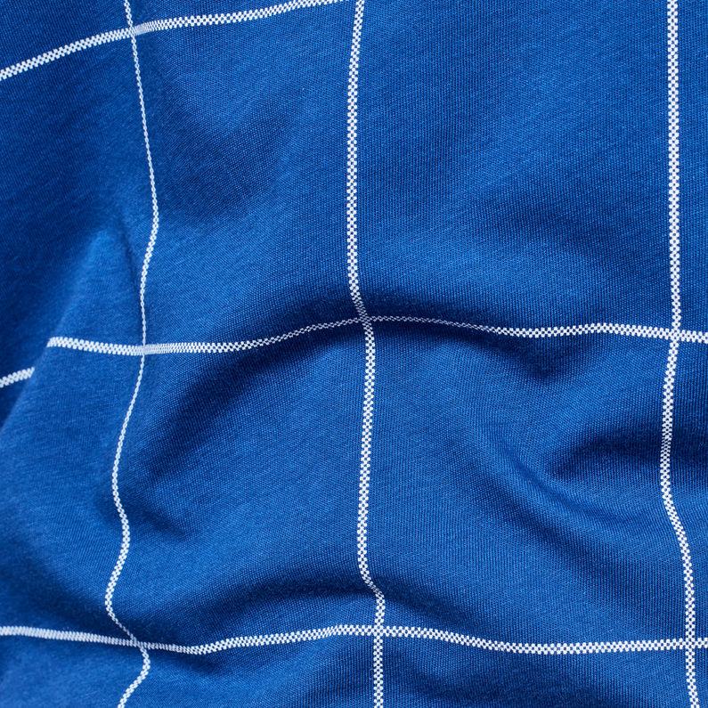 Graphic 4 Xula Window Check T Shirt | Hudson Blue | G Star RAW®