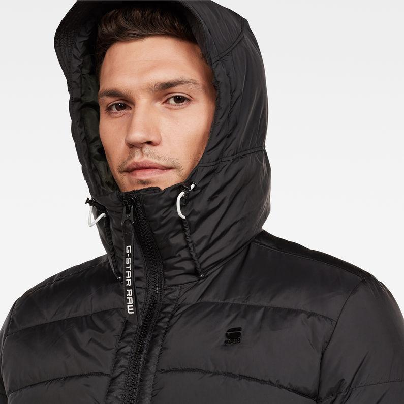 Motac Quilted Hooded Jacket   Dark Black   Hommes   G Star RAW®