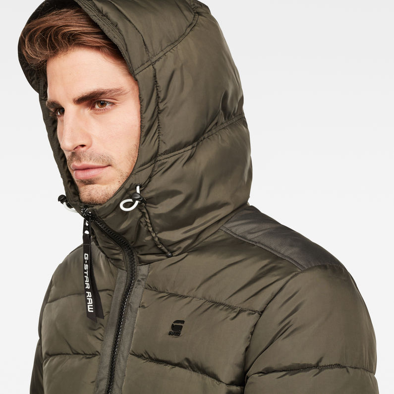 Motac Quilted Hooded Jacket   Asfalt   Hommes   G Star RAW®