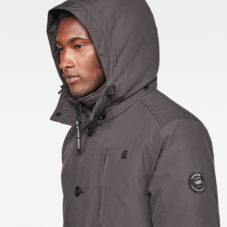 Vodan Padded Hooded Jacket | Dark Black | Hommes | G Star RAW®