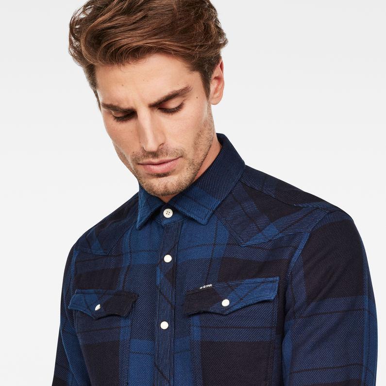 3301 Slim Shirt | rinsedspace blue check | Heren | G Star RAW®