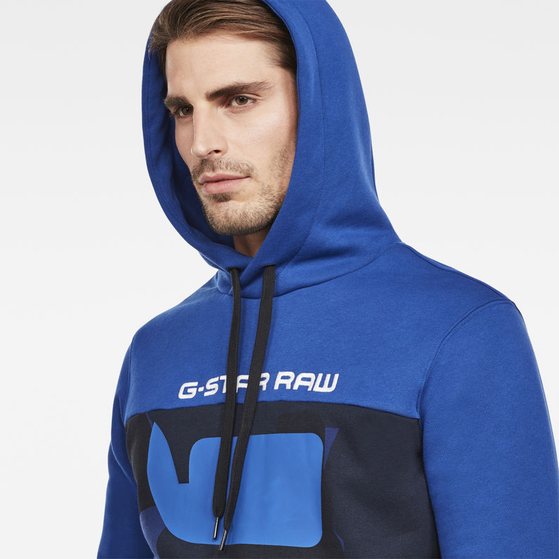 Grapic 20 Core Hooded Sweat | Hudson Blue | Hommes | G Star RAW®