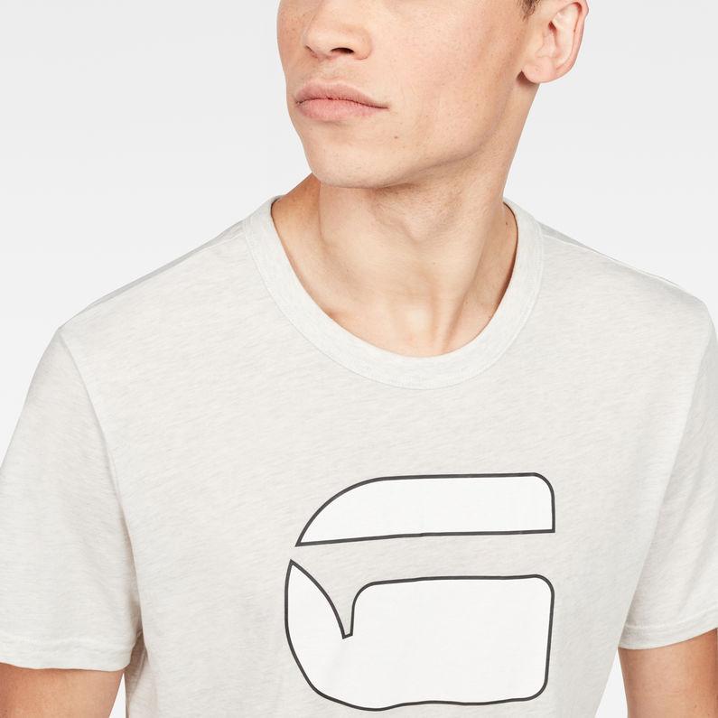 Cadulor T Shirt | White Heather | Hommes | G Star RAW®