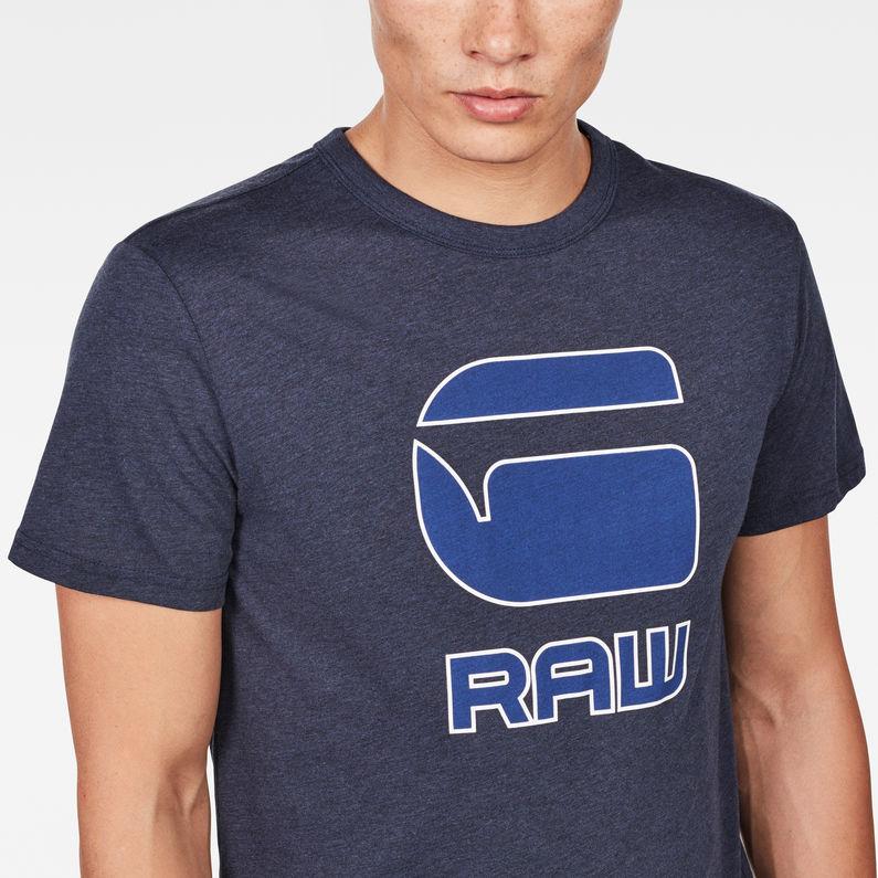 Cadulor T Shirt | Sartho Blue Heather | Hommes | G Star RAW®