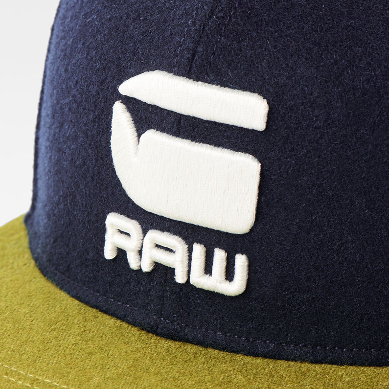 2856d1f9df71e Estan Snapback Cap | Dark Saru Blue/Dark Olive | G-Star RAW®