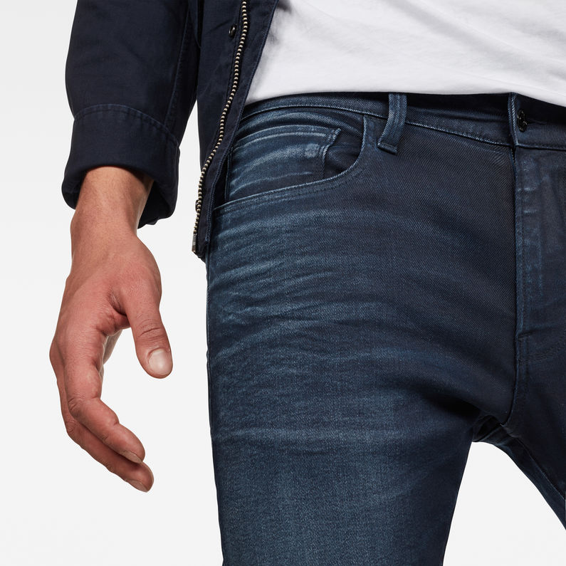 G-Star Jeans Femmes 3301 deconst Mid Skinny Fit-Schwart-Raw Denim