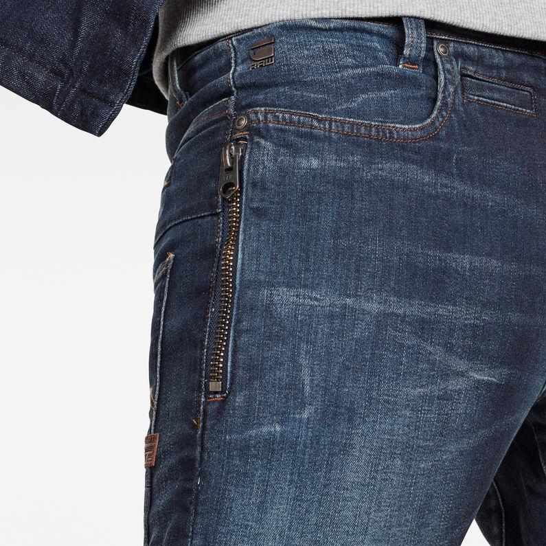 G Star D staq 3d Jean slim zippé à délavage moyen