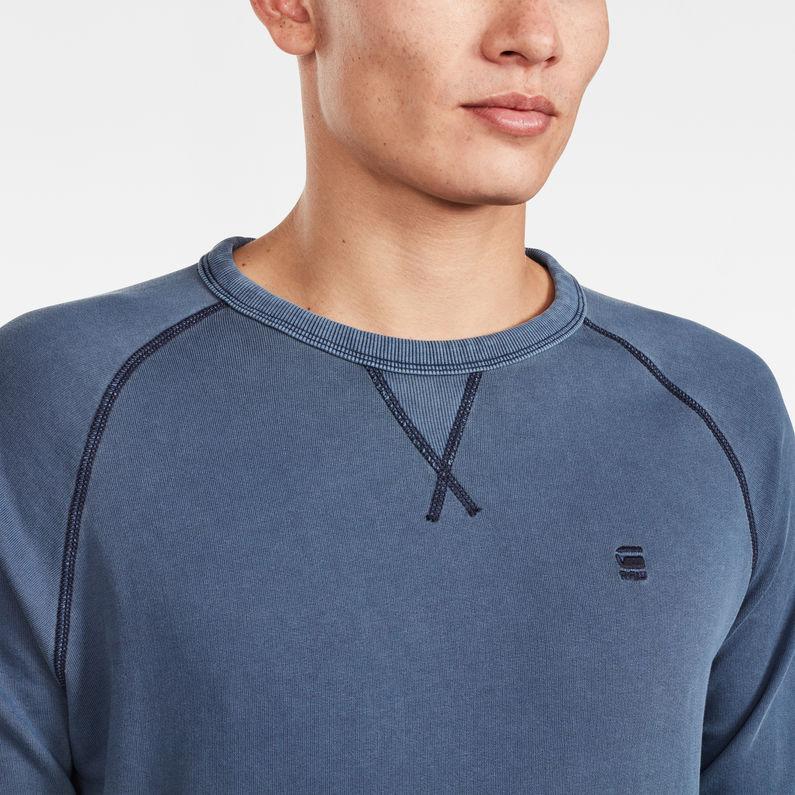 Core Raglan Sweater | Sartho Blue | Herren | G Star RAW®