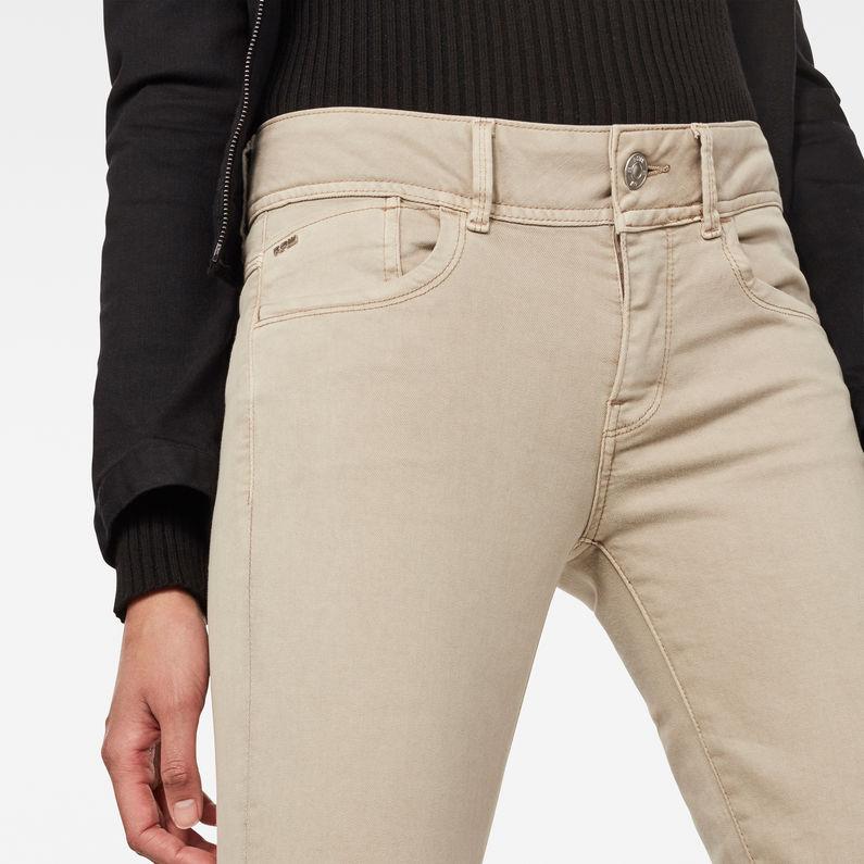 Lynn Mid Waist Skinny Colored Jeans | Khaki | Women | G Star