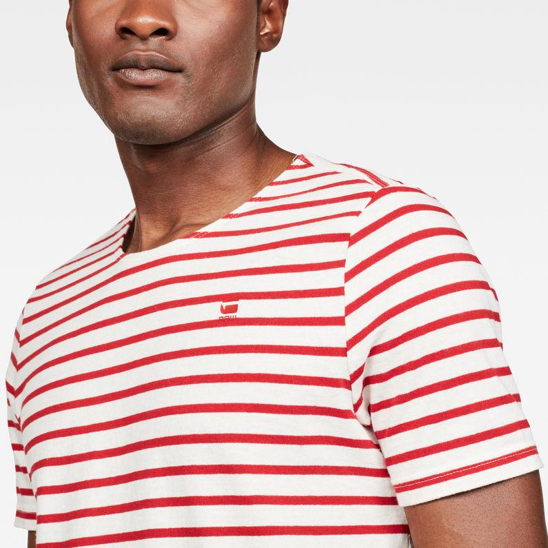 Xartto T Shirt   MilkDeep Flame Stripe   Hommes   G Star RAW®