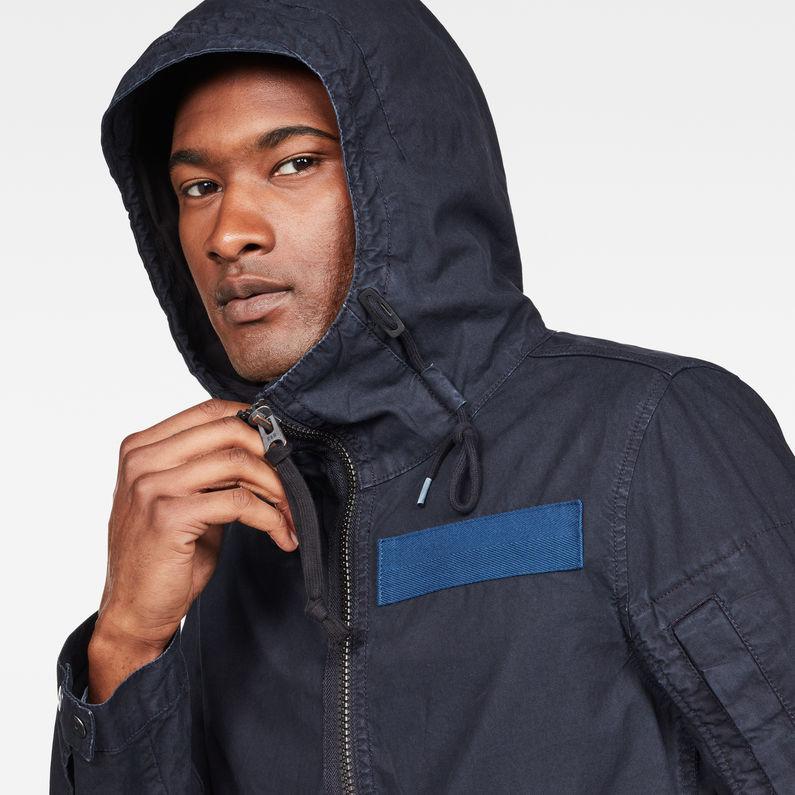 Batt Hooded Overshirt   Mazarine Blue   Herren   G Star RAW®