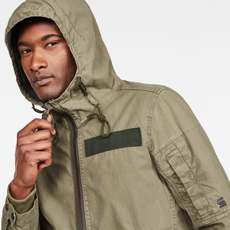 Batt Hooded Overshirt   Dark Shamrock   Herren   G Star RAW®