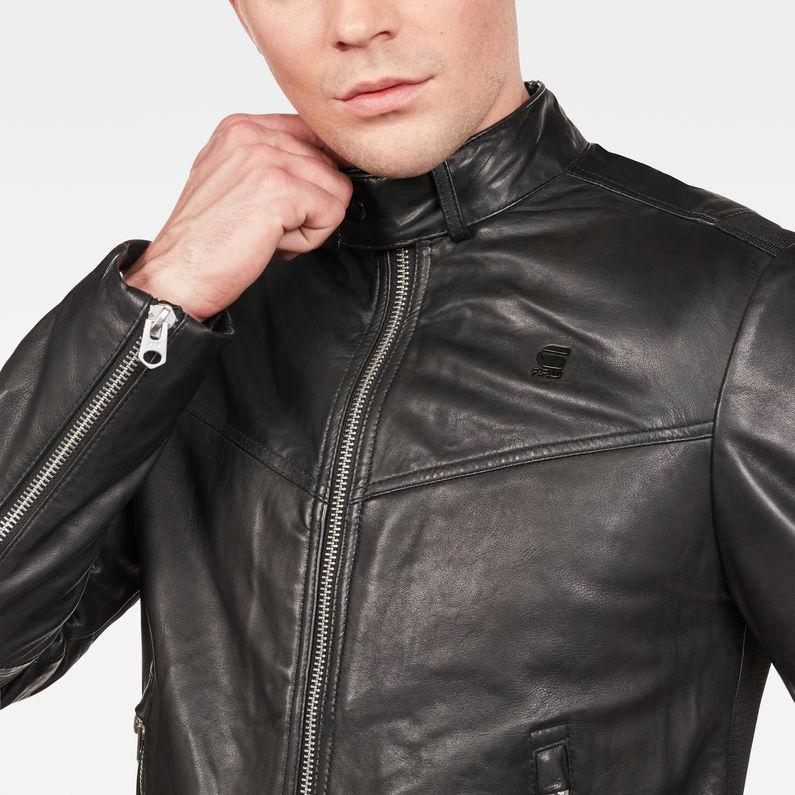 G Star RAW Leren Jack Jas Heren Leren Jassen (Zwart)