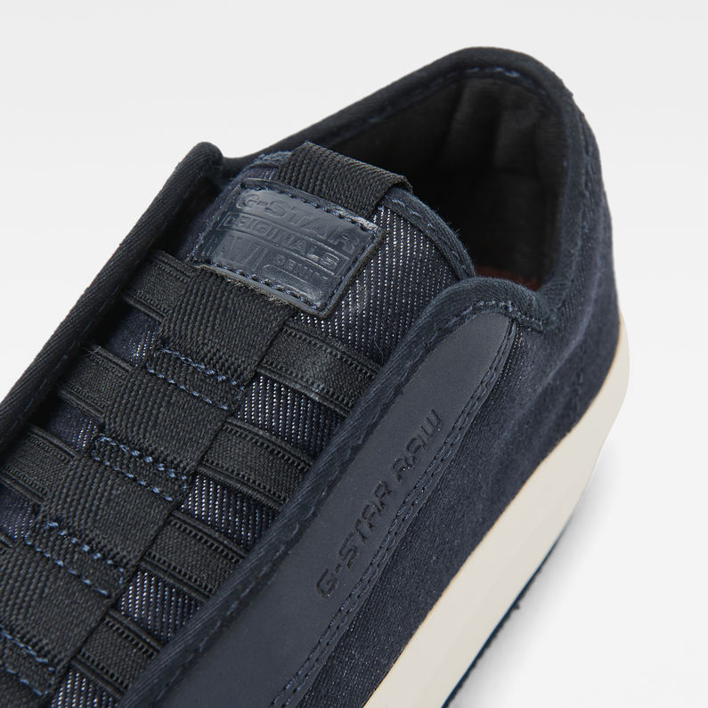 Strett Denim Lace Up Sneakers   Dark