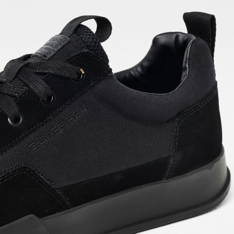 Rackam Core Low Denim Sneakers | Black
