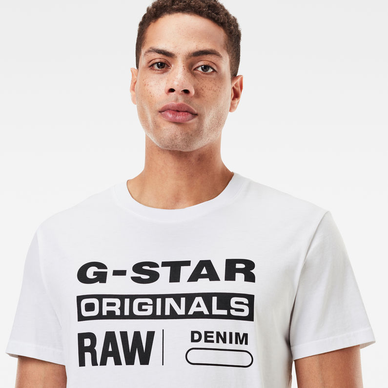 G Star Raw Men's Order Logo Crew Neck Short Sleeve Tee Shirt