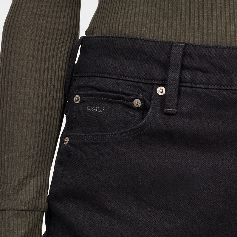 3301 High Straight 90's Ankle Jeans | Pitch Black | G Star RAW®