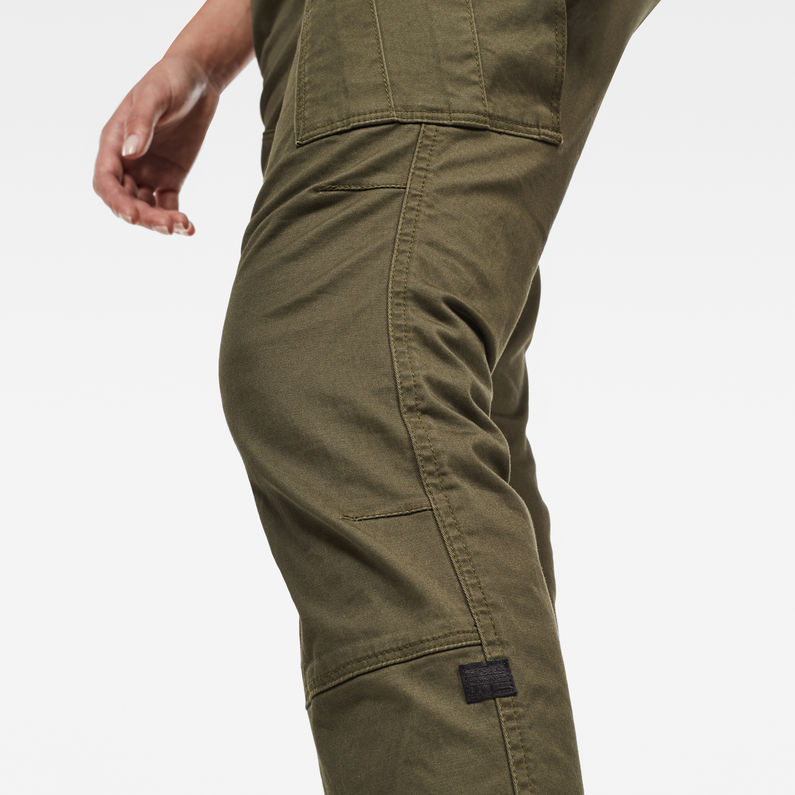 Rovic Mid Waist Skinny Cargo Pant | Forest Night | G Star RAW®