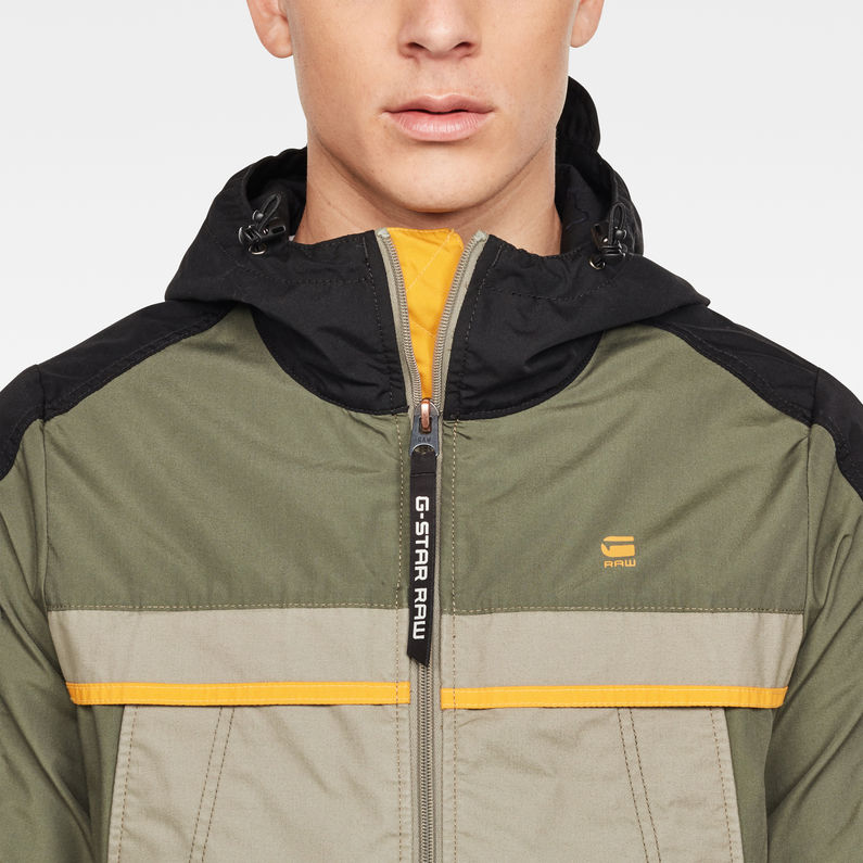 Colourblock Hooded Jacket   Wild Rovic   Men   G Star RAW®