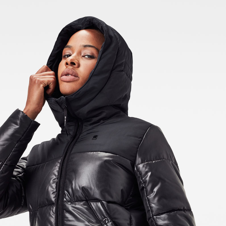 Doudoune longue Quilted Hooded   Dark Black   G Star RAW®