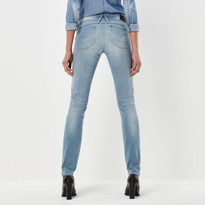 26W // 34L Femme Bleu DK Aged 6545-89 G-STAR RAW Lynn Mid Waist Skinny Jeans