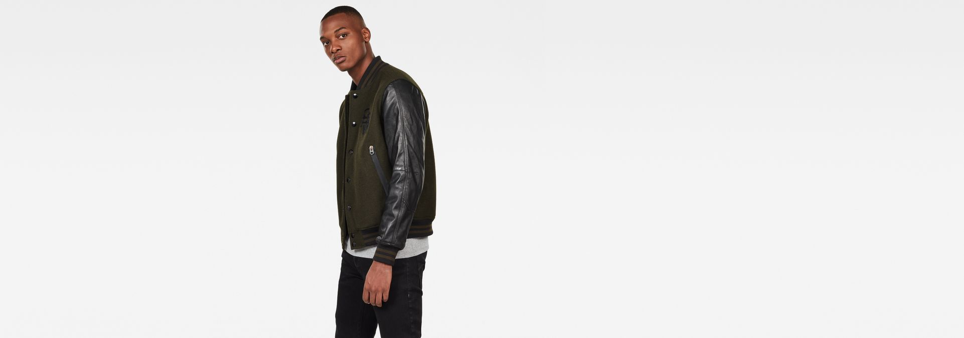 G-Star Raw Mens Bolt Leather Bomber Jacket