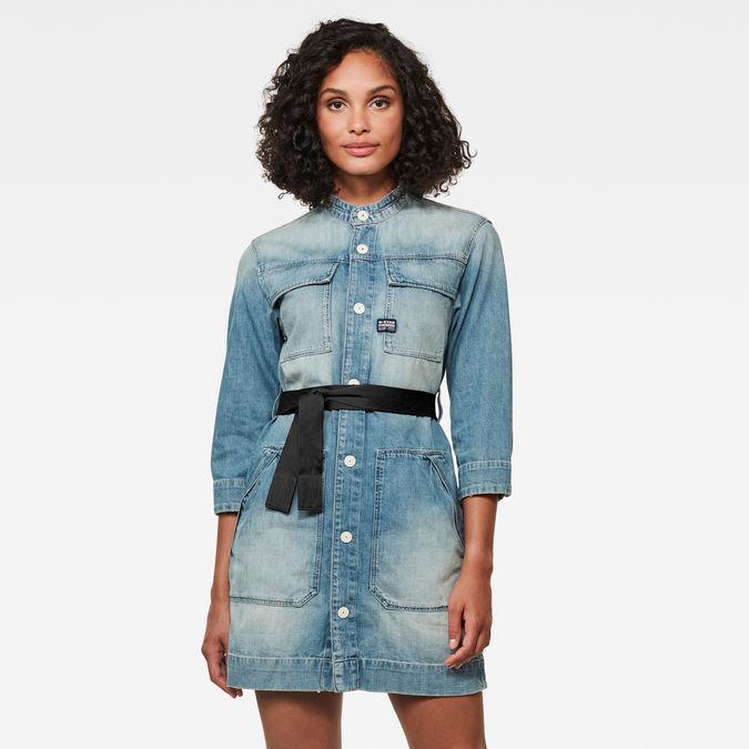Shirt Dress Short | vintage marine blue | G-Star RAW®